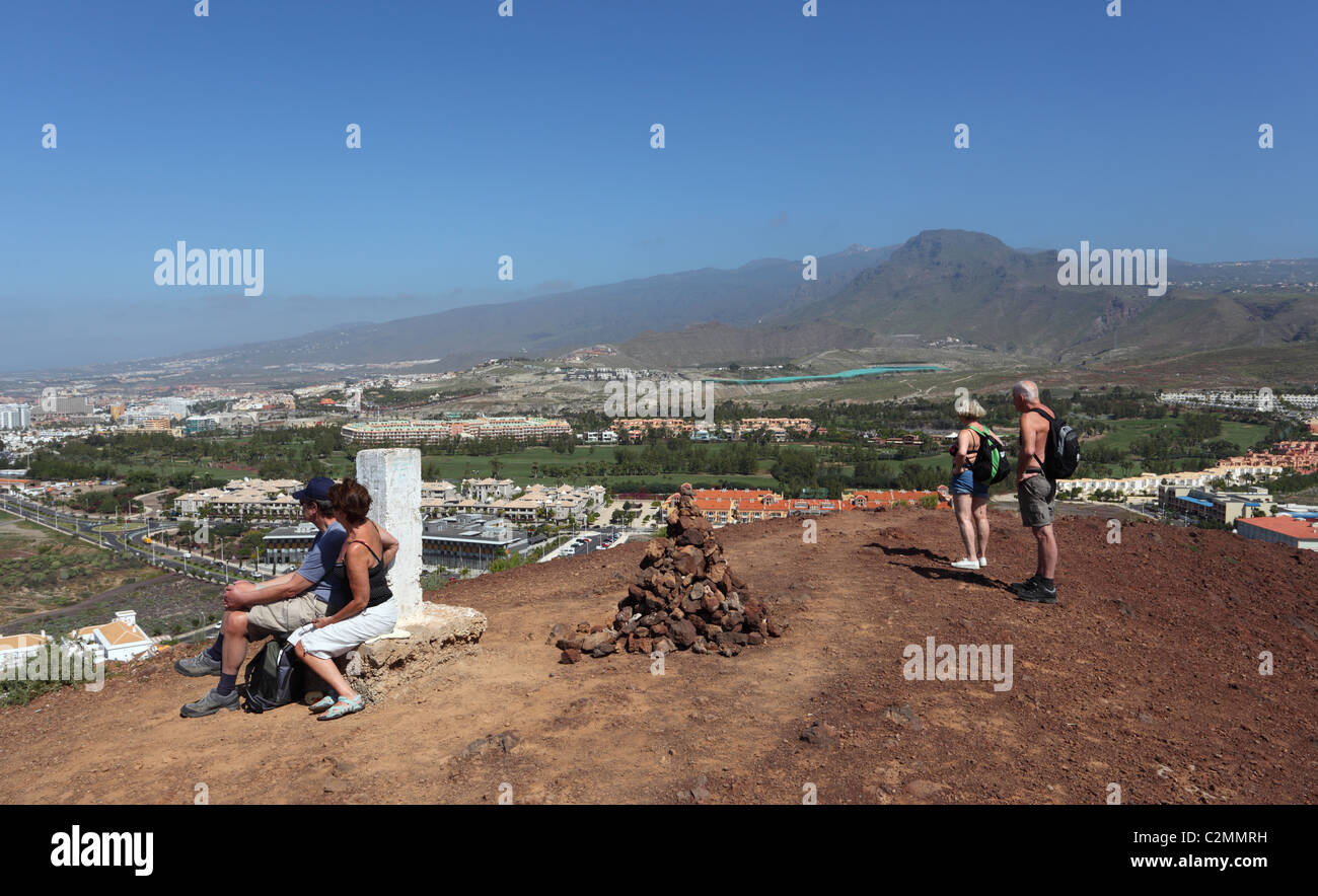 Rambler on top of the mountain in Los Cristianos, Canary Island Tenerife, Spain Stock Photo