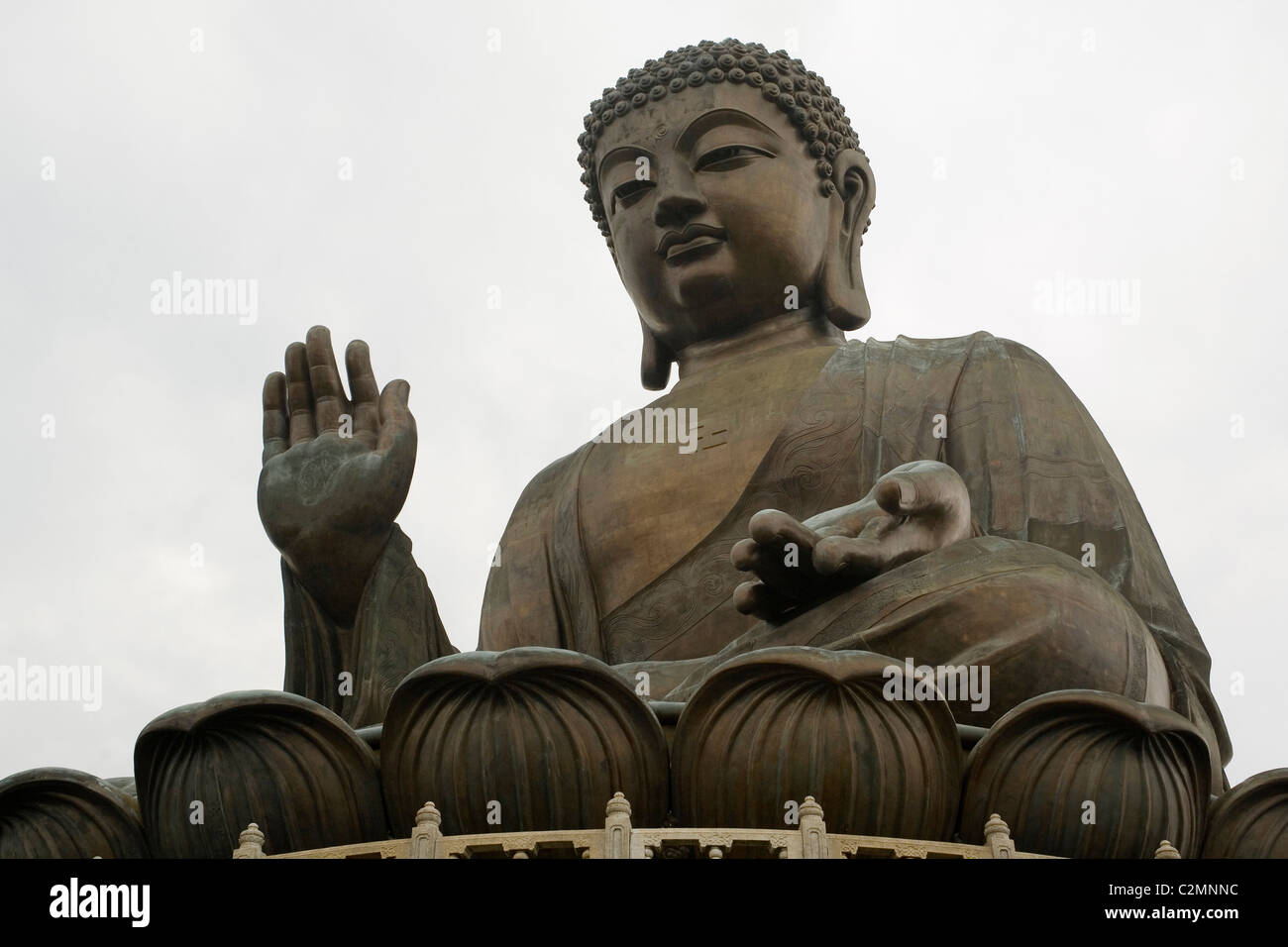 China Hong Kong, Lantau Tian Tan Buddha - Stock Image