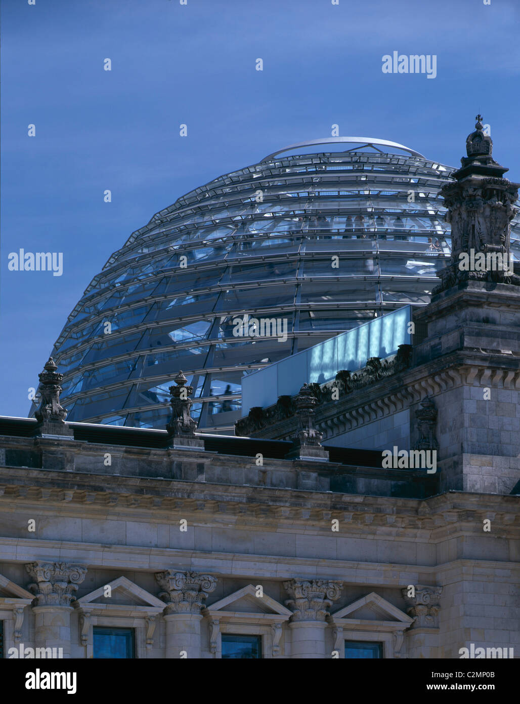 Reichstag, Platz der Republik, Berlin, Germany - View of the dome from the west - Stock Image