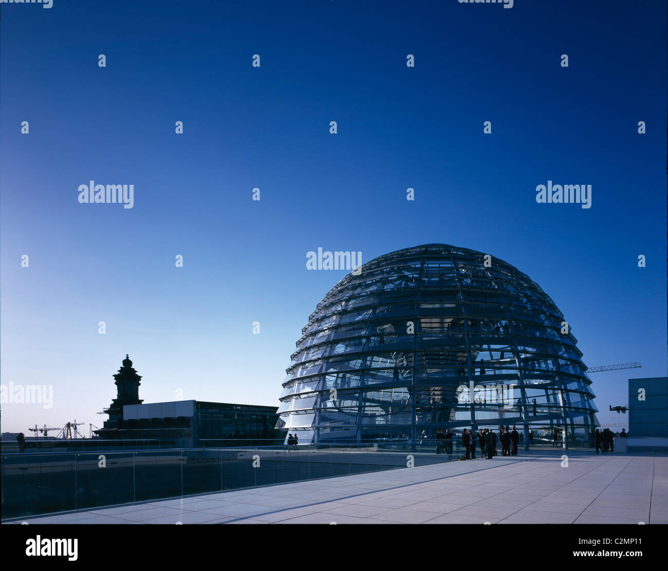 Reichstag, Platz der Republik, Berlin, Germany - The dome - looking North - Stock Image