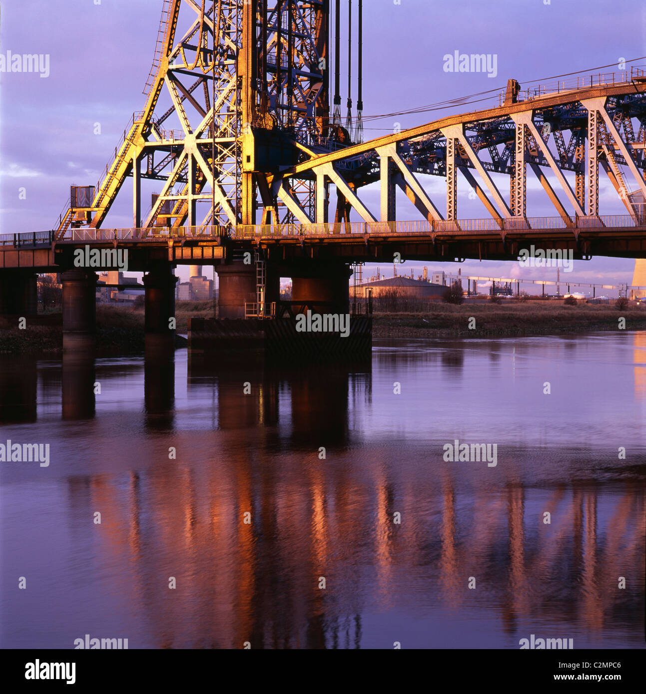 Newport Bridge River Tees Middlesborough - Stock Image