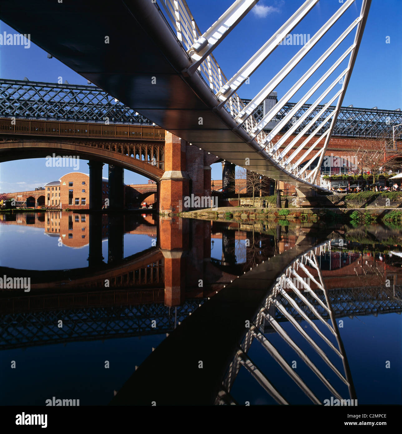 New footbridge, Castlefield, Manchester - Stock Image