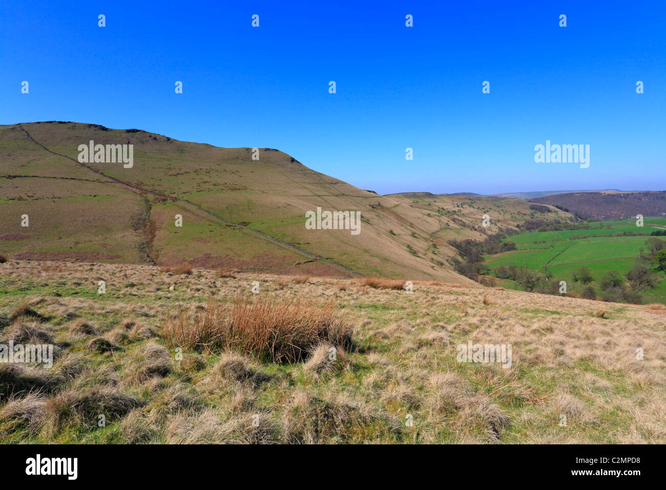 Mount Famine, Hayfield, Derbyshire, Peak District National Park, England, UK. - Stock Image