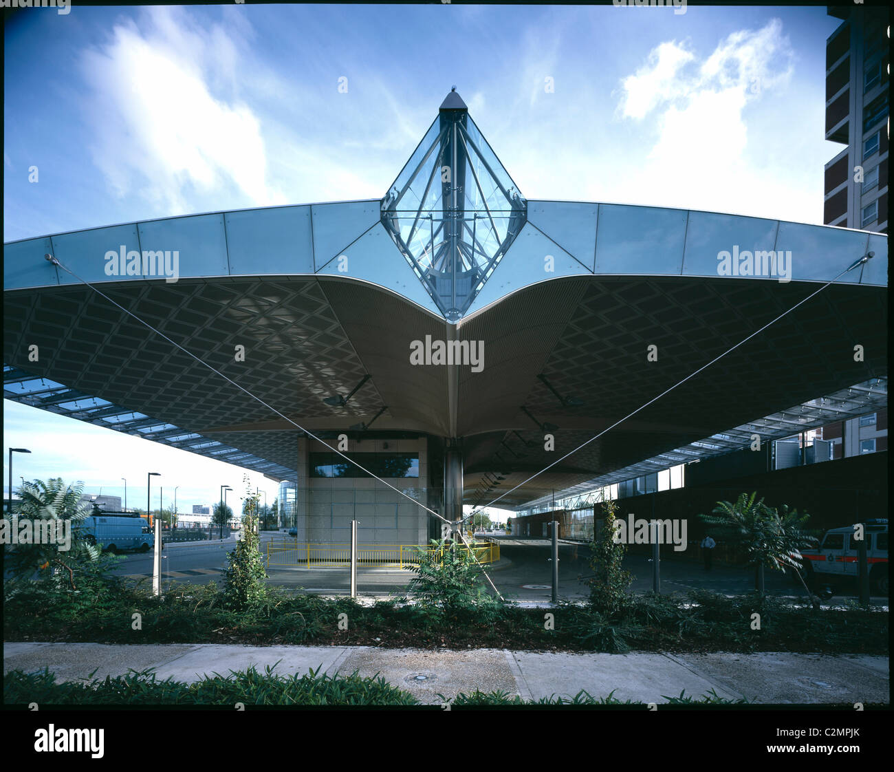 Canada Water Bus Station, London - Rear elevation. - Stock Image