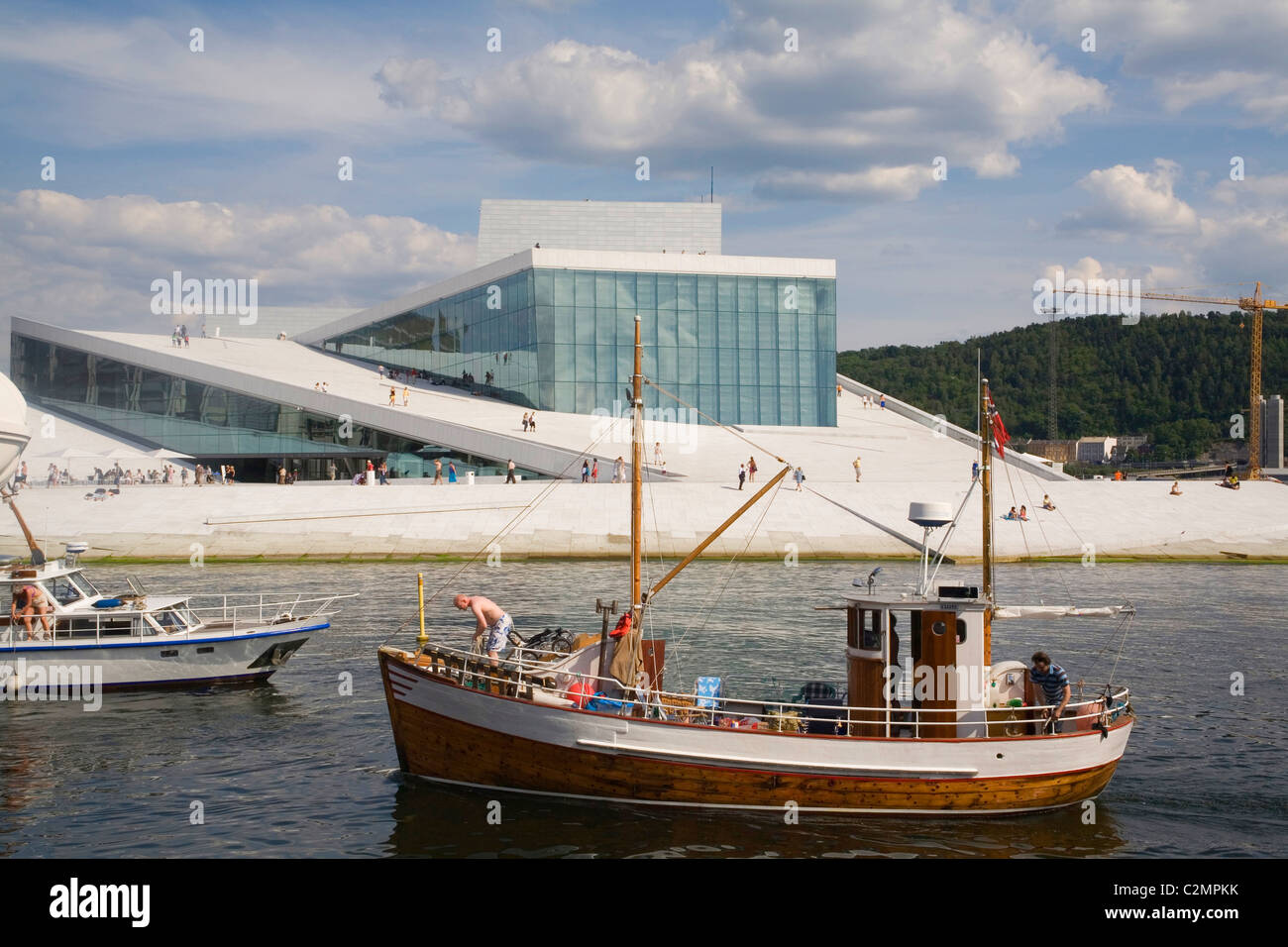Norway Oslo Opera house - Stock Image