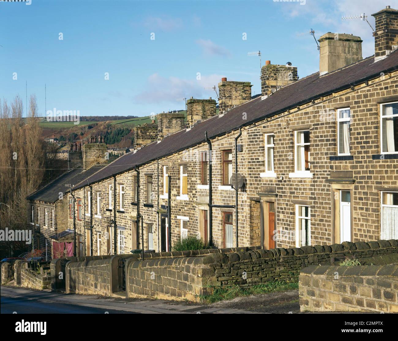 Terraced housing. Sheffield, England. - Stock Image