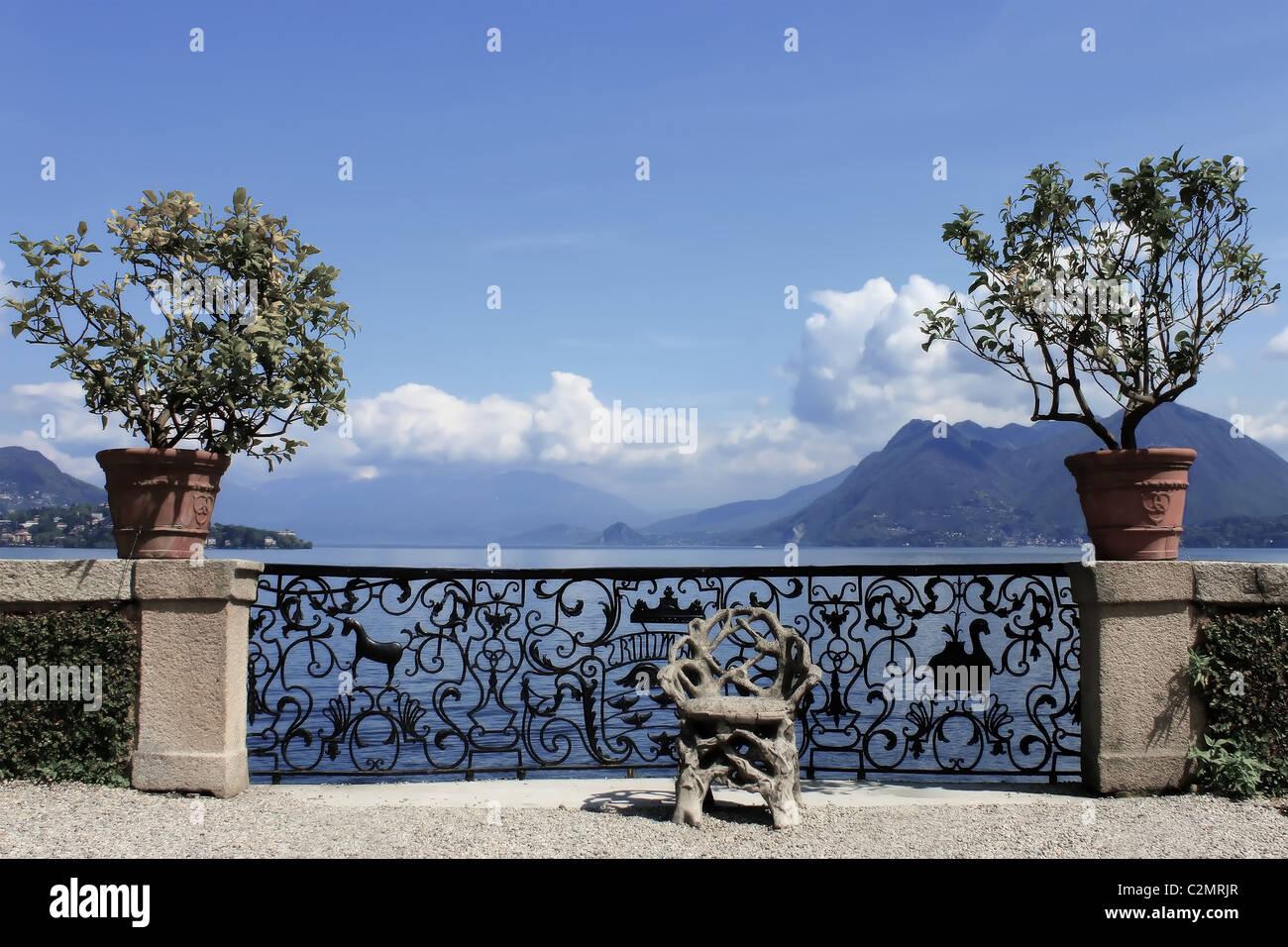 Palazzo Borromeo - Italy - Piemont Stock Photo