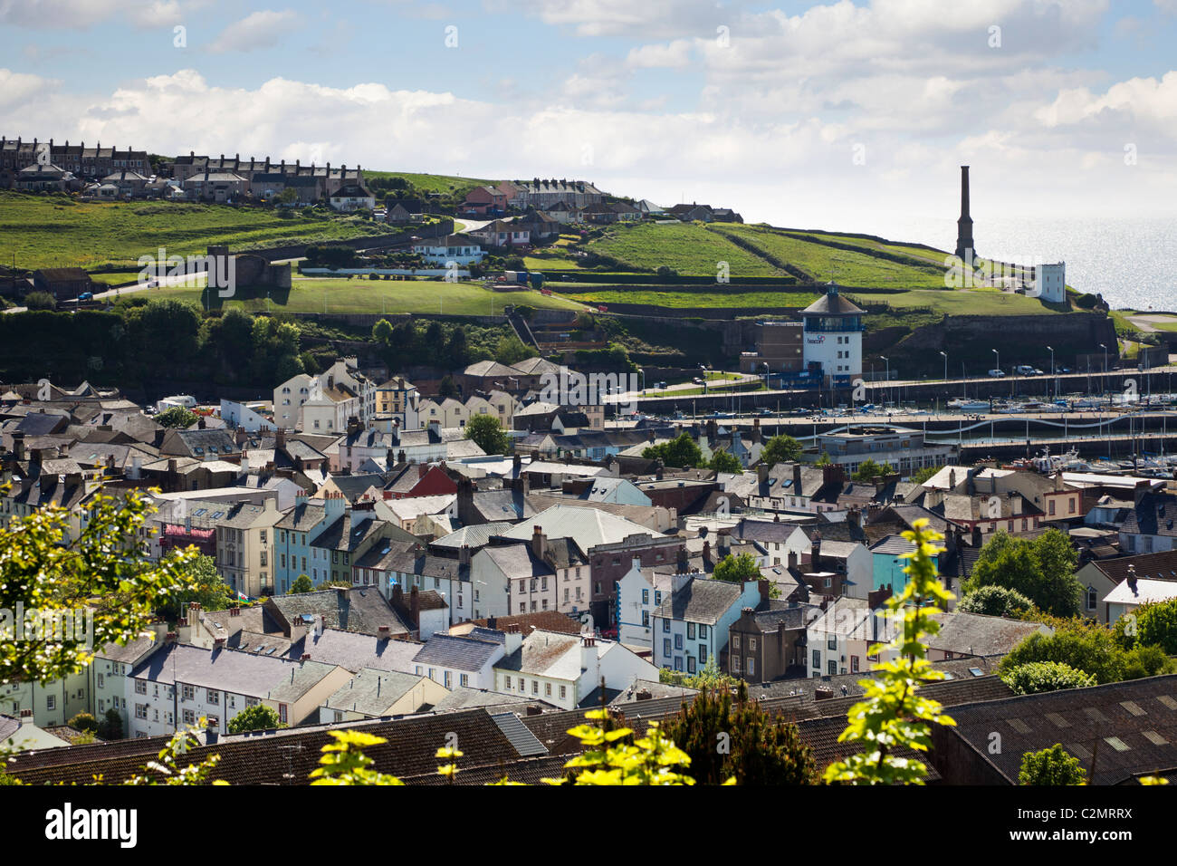 The town of Whitehaven, Cumbria, England UK - Stock Image