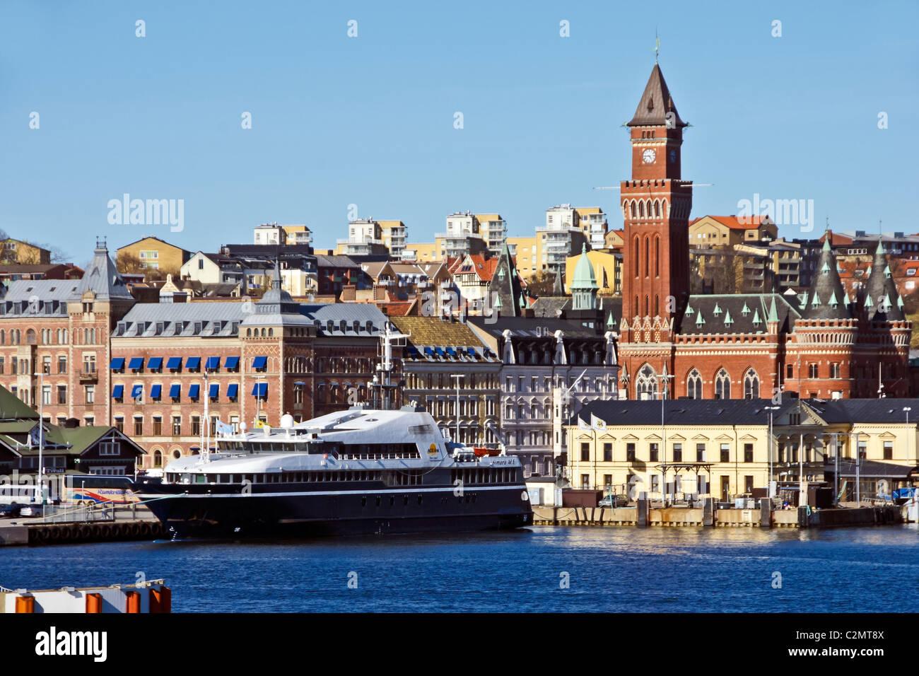 ACE Link Sundbuss Simara ACE moored in Helsingborg Harbour Sweden - Stock Image