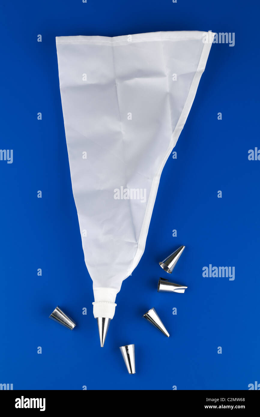 Icing set with nozzles Stock Photo