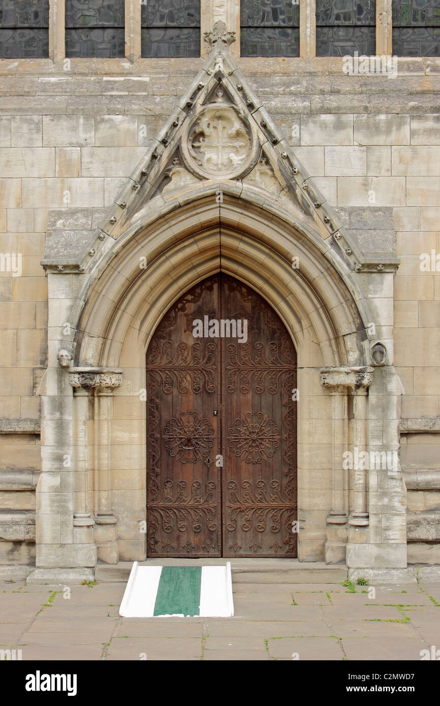 Selby Abbey South Transept door - Stock Image