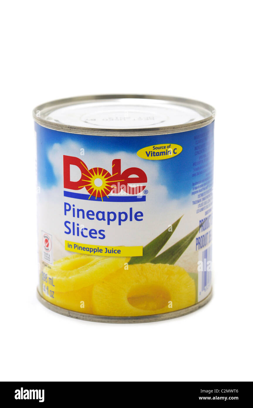 Tin of Pineapple Slices - Stock Image