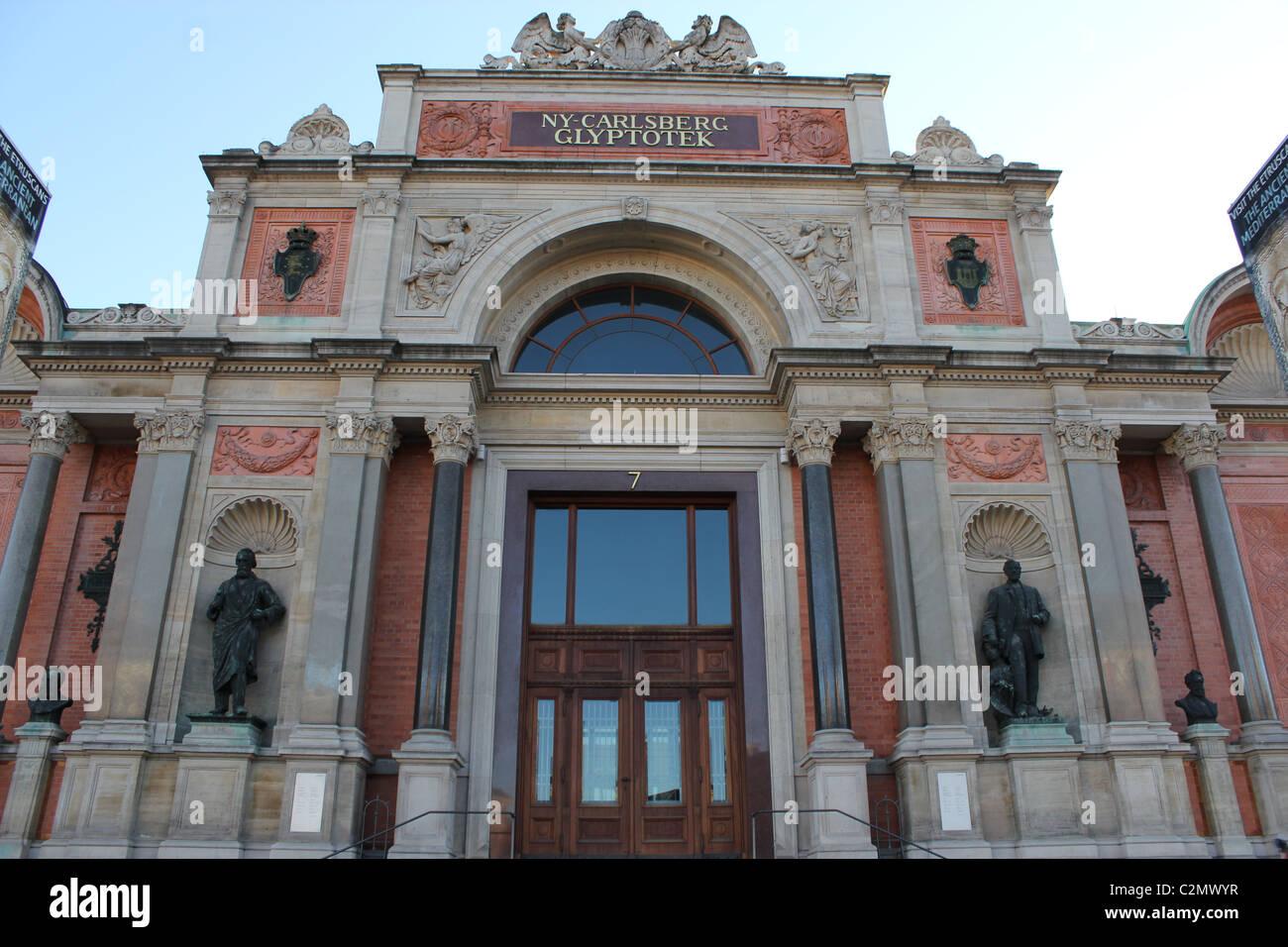 Ny Carlsberg Glyptotek museum in Copenhagen. - Stock Image