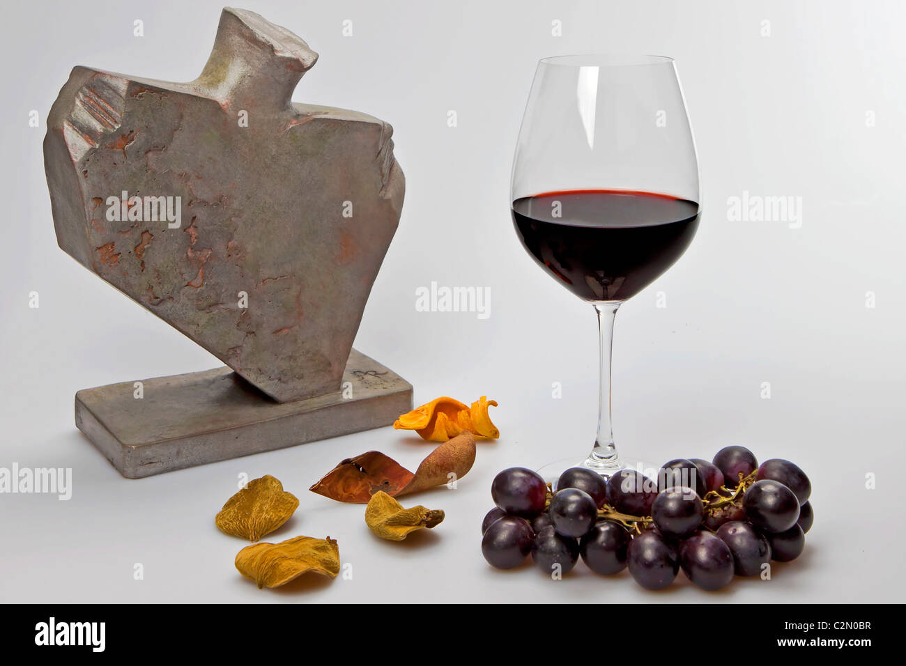a glass of red wine? Stock Photo