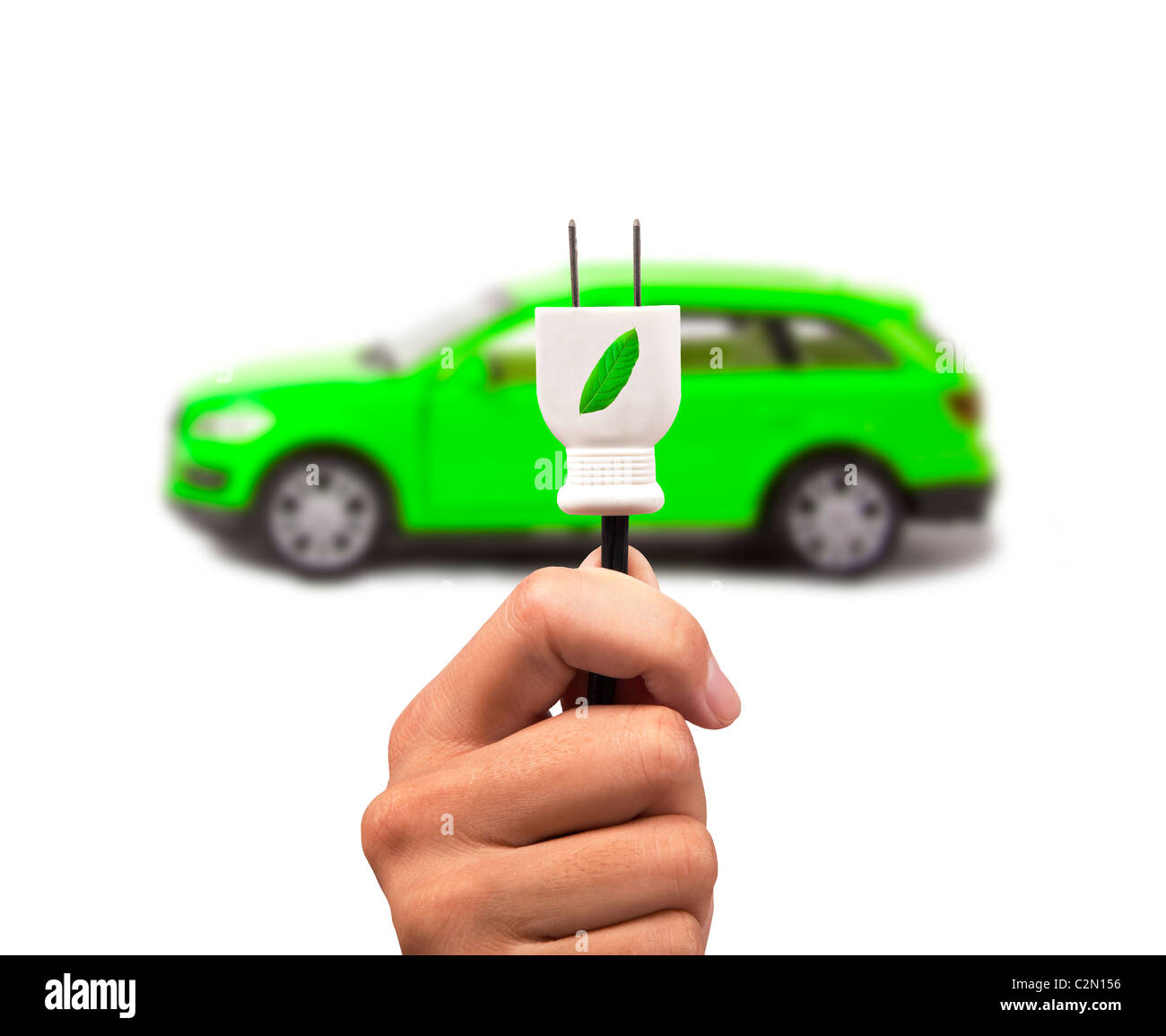 Electric cars with eco energy - Stock Image
