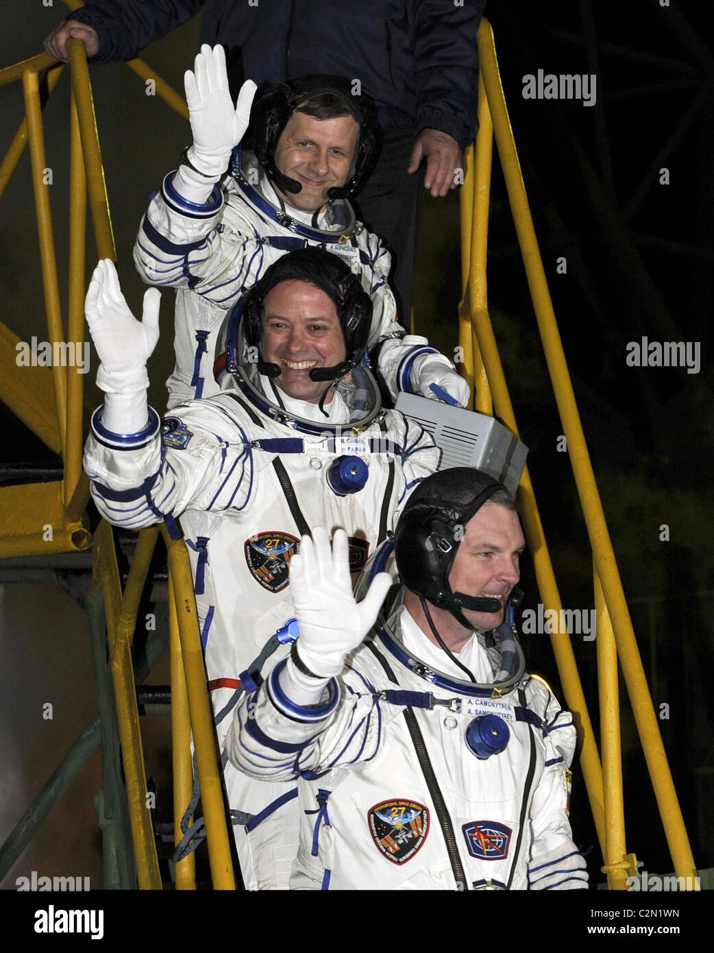 Expedition 27 crew members - Stock Image