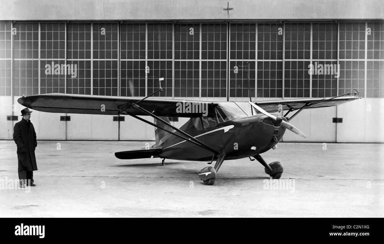 Stinson 105 Voyager was a 1940s American light utility monoplane built by the Stinson Aircraft Company. - Stock Image