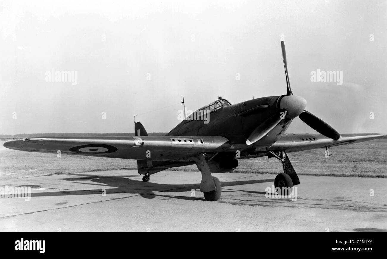 Hawker Hurricane is a British single-seat fighter aircraft - Stock Image