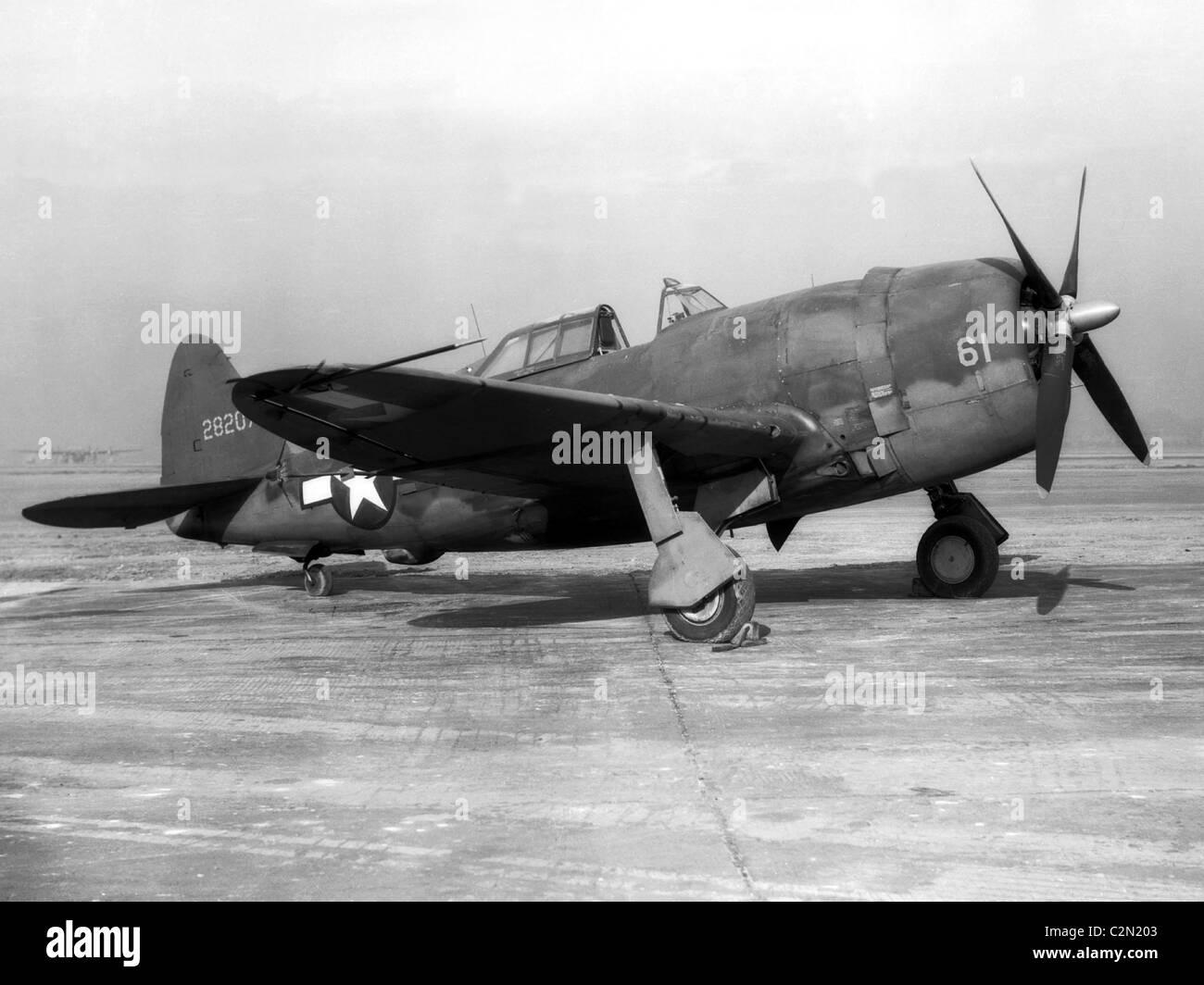 Republic Aviation P-47 Thunderbolt aircraft, Republic P-47D Thunderbolt - Stock Image
