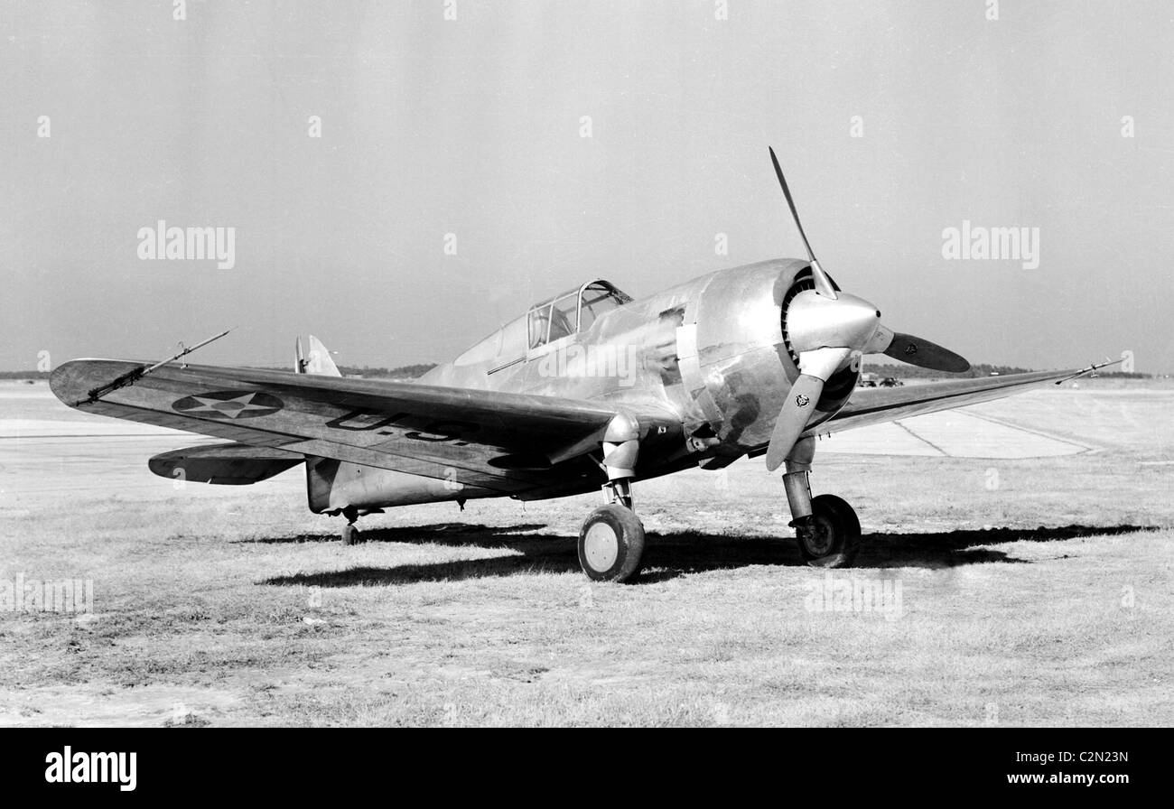 Curtiss XP-42: This is a highly modified Curtiss P-36A aircraft - Stock Image
