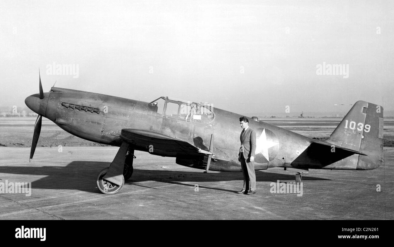 North American XP-51 Mustang airplane - Stock Image