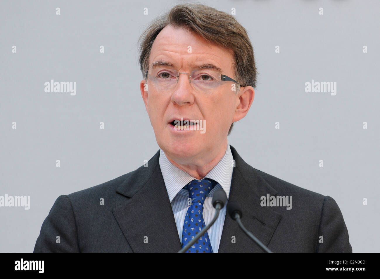 Lord Peter Mandelson attends a conference outlining London's economic reputation at the Royal Opera House, London, Stock Photo