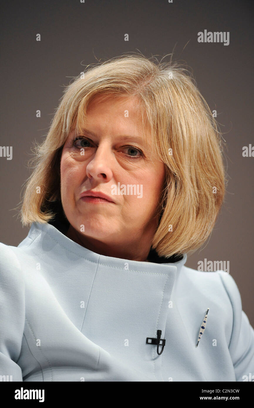 Theresa May attends the Conservative Conference in Manchester, 7th October 2009. - Stock Image