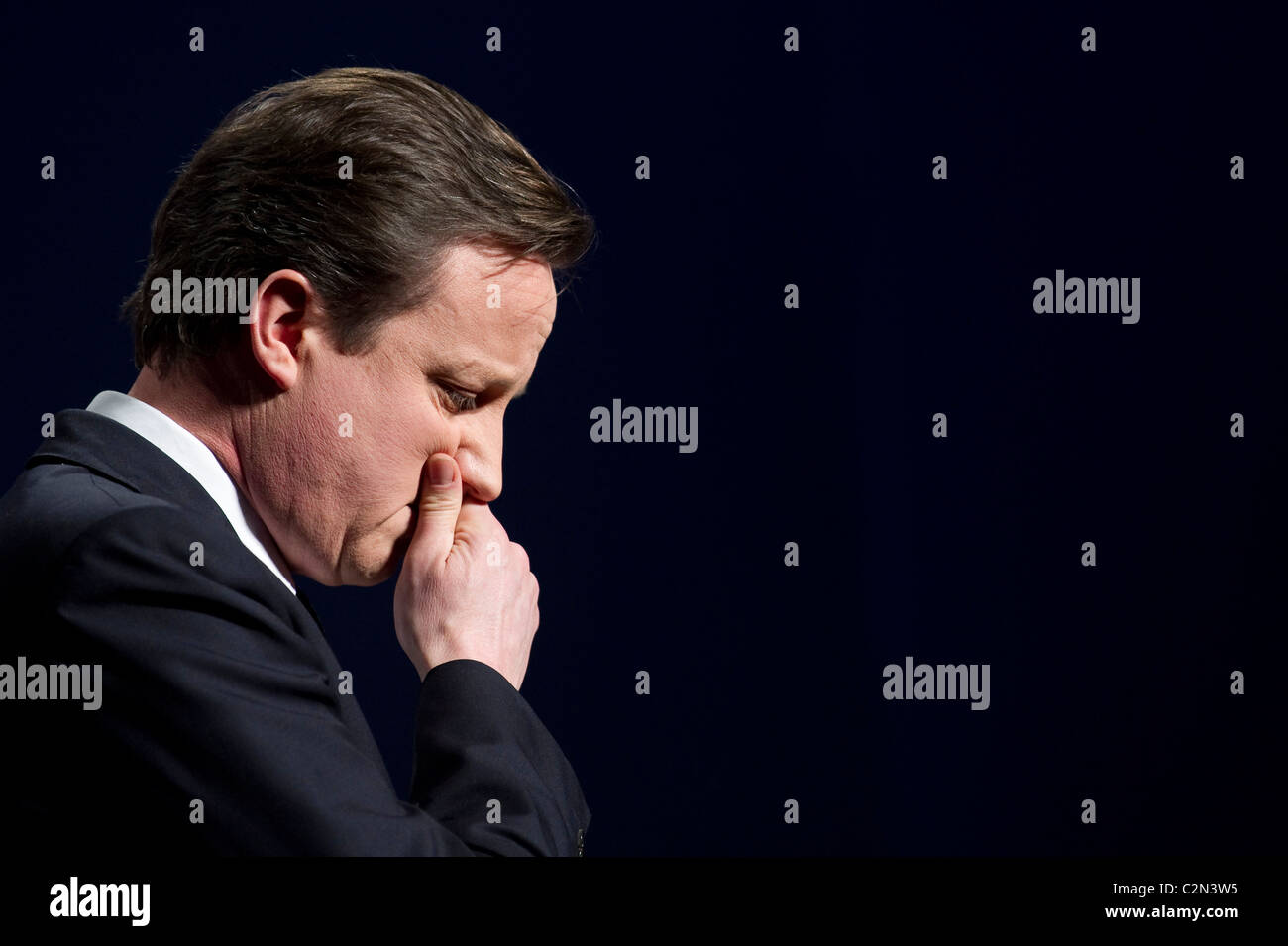David Cameron addresses the Conservative Spring Forum, Brighton, 28th February 2010. Stock Photo