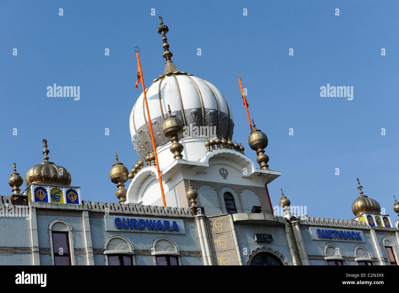 Guru Nanak Gurdwara Sikh temple in Smethwick near Birmingham UK. - Stock Image