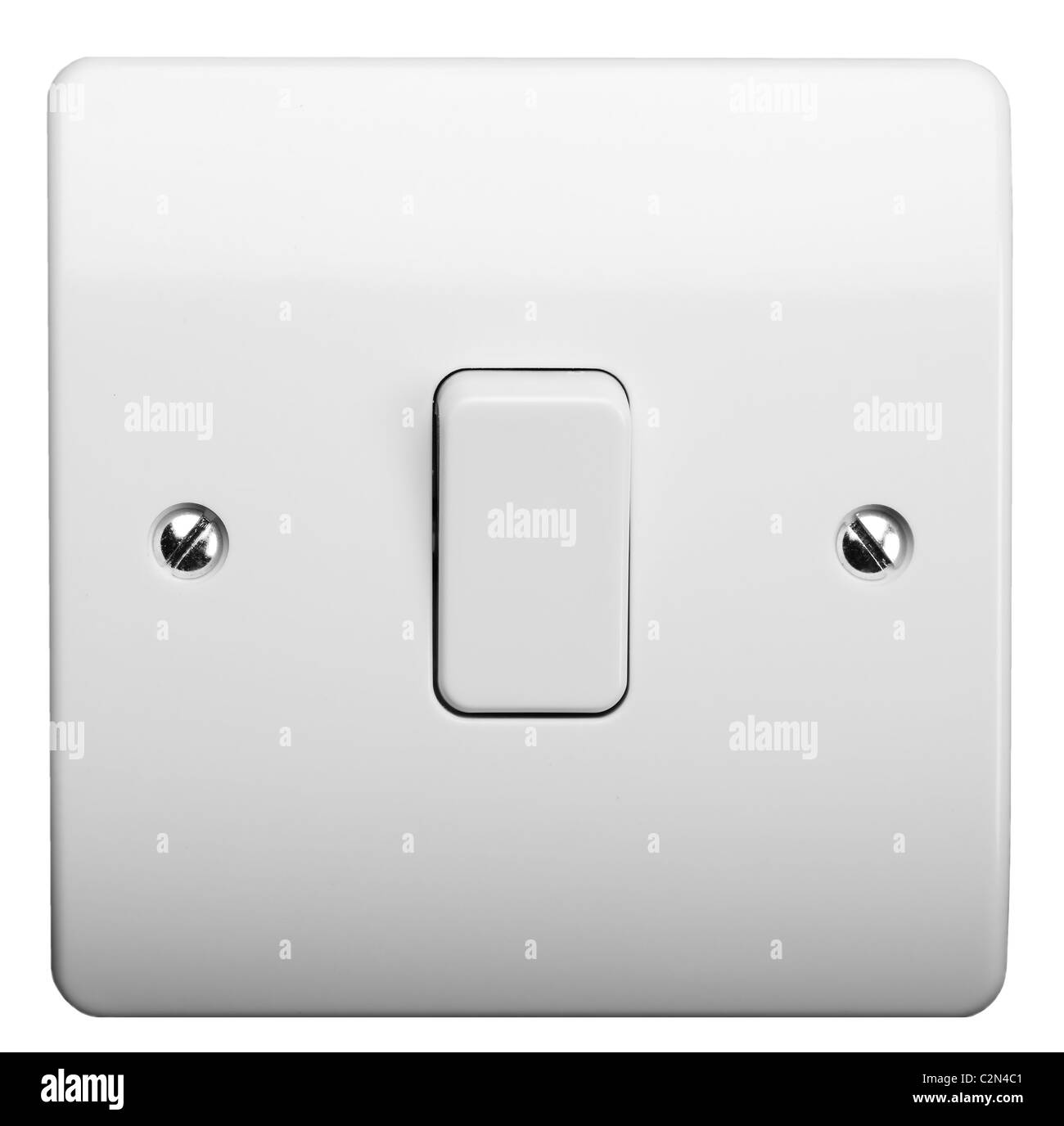 Standard UK Light Switch - Stock Image