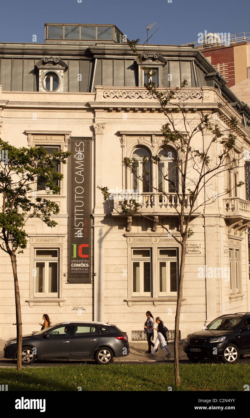 Instituto Camoes in Lisbon Portugal promotes the teaching of Portuguese language Stock Photo