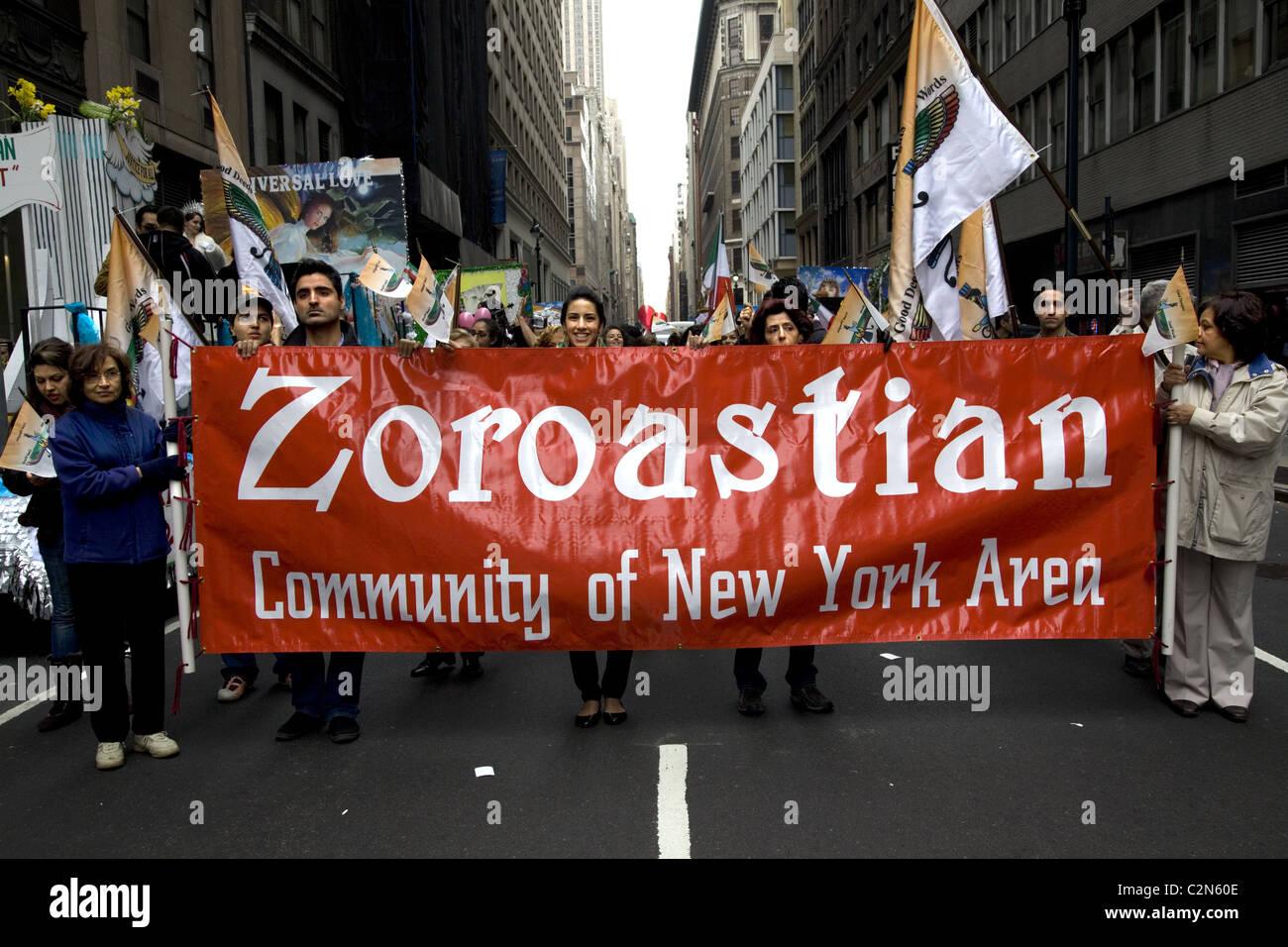 2011: Persian Parade, Madison Avenue, New York City. - Stock Image