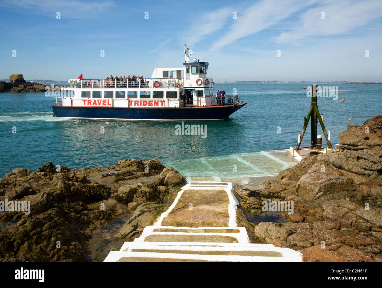trident travel ferry boat rosaire steps herm island channel islands
