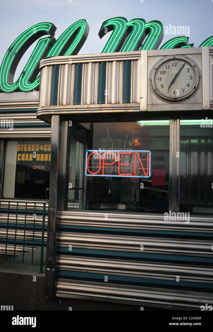 Al Macs Diner located in Fall River, Massachusetts  Clock