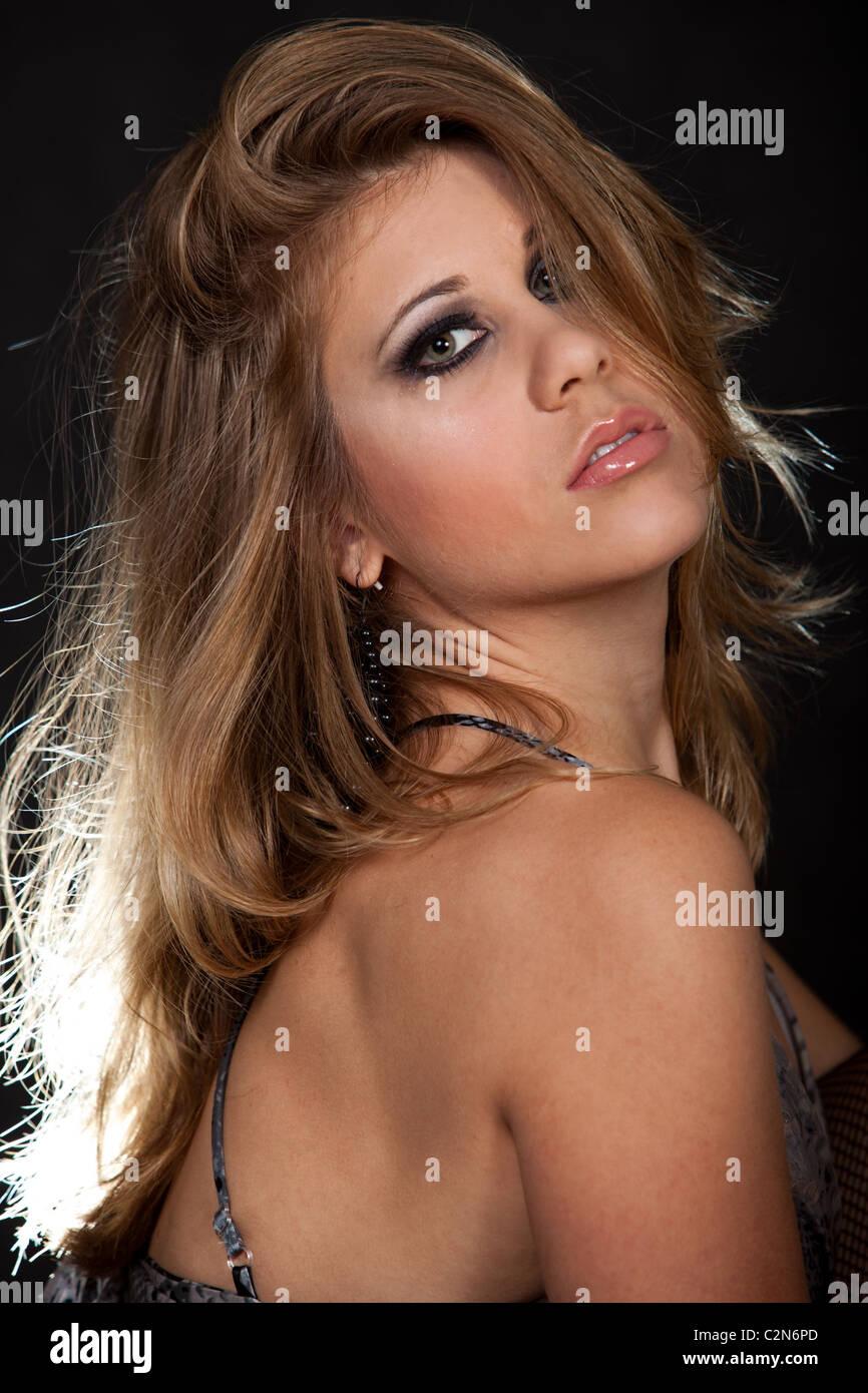 Beautiful twenties caucasian fashion woman - Stock Image