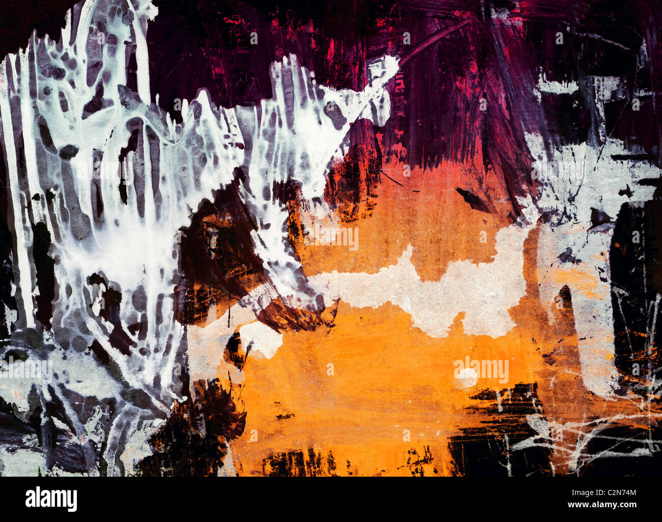 Grunge  textured  abstract  graphic  background - collage - Stock Image