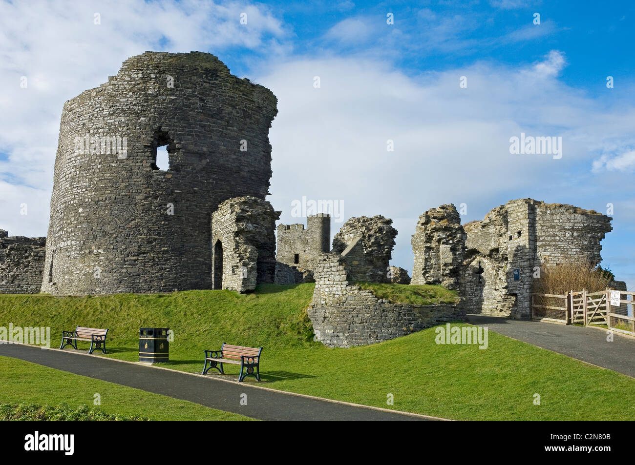 Ruins of Aberystwyth Castle Cardiganshire mid Wales UK United Kingdom GB Great Britain - Stock Image