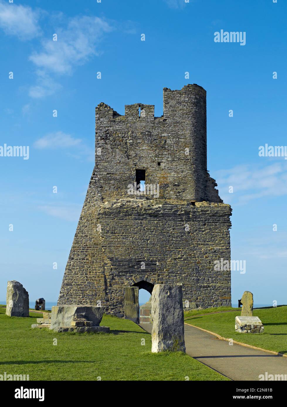 Ruins of Aberystwyth Castle Cardiganshire mid Wales UK United Kingdom GB Great Britain - Stock Image