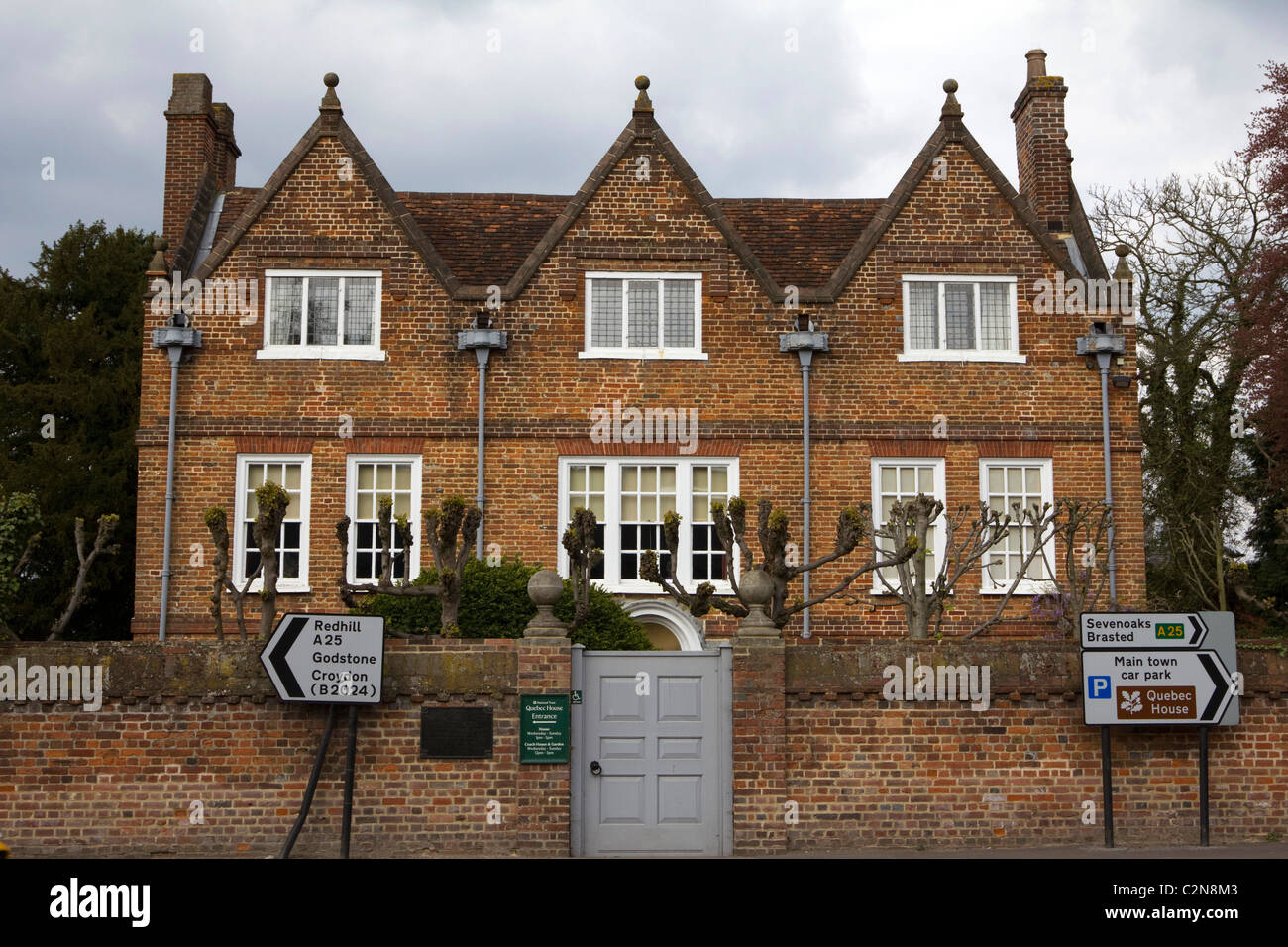 Quebec House is the birthplace of General James Wolfe on what is now known as Quebec Square in Westerham, Kent. - Stock Image