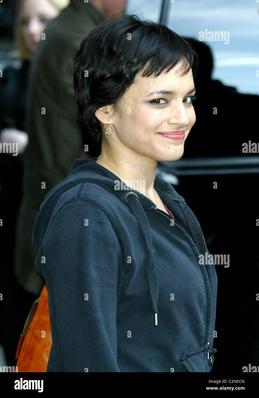 Norah Jones outside Ed Sullivan Theatre for the \'Late Show With ...