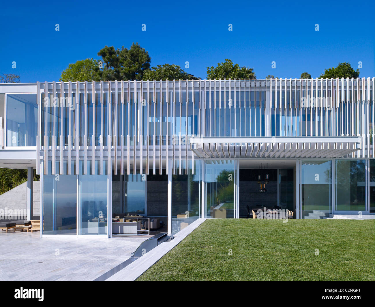 Modern detached house, West Hollywood, California Stock Photo
