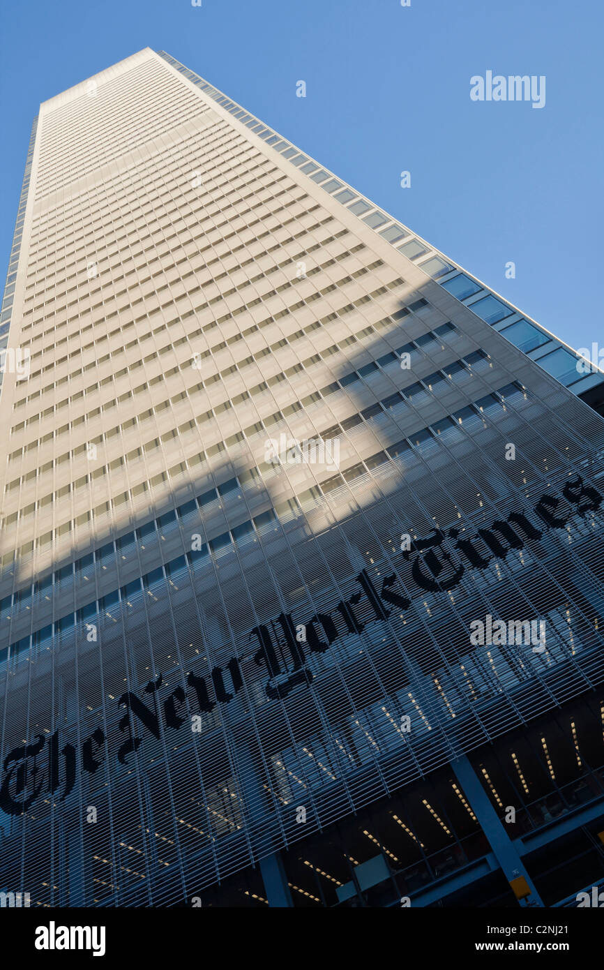 The New York Times Building by Renzo Piano. Completed 2007. - Stock Image