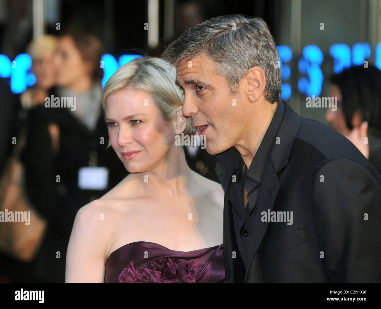 George Clooney and Renee Zellweger at The London Premiere of Leatherheads