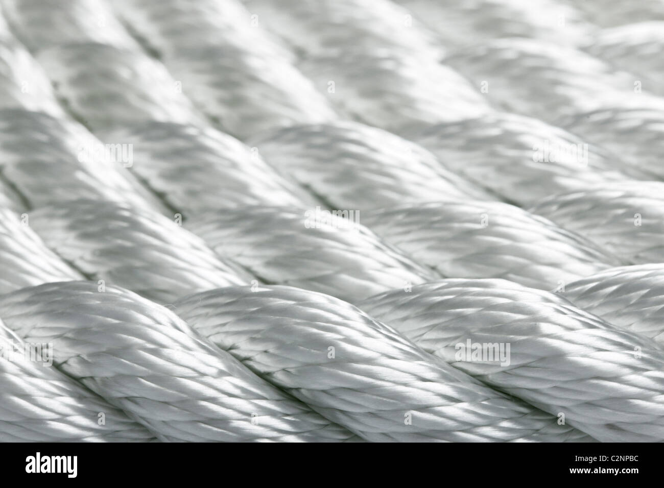 Macro study of a new rope - Stock Image