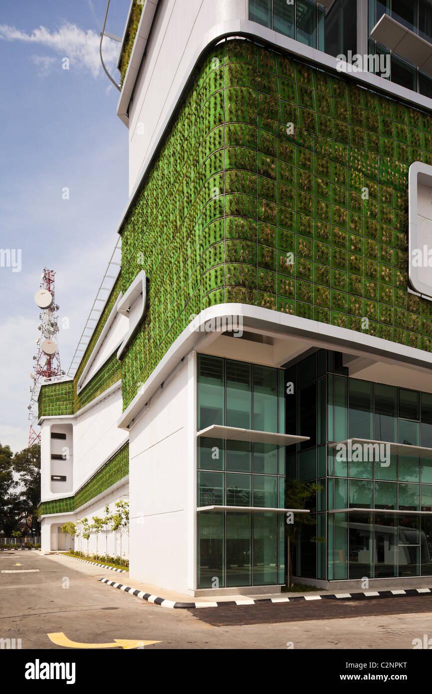 DiGi Technology Operation Centre, Subang High Tech Park, Kuala Lumpur in Malaysia. The building's eco design features Stock Photo