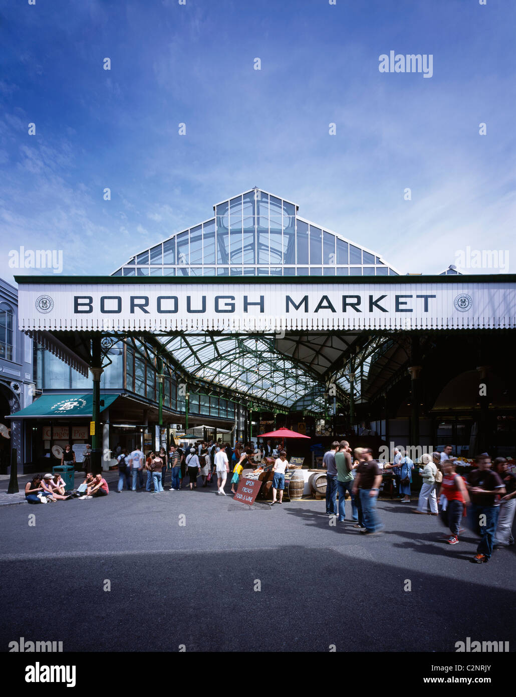 Borough Market, London. Bedale Street Entrance. 1851 - Stock Image
