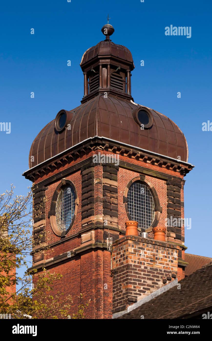 UK, England, Staffordshire, Leek, Stockwell Street, Nicholson Institute tower - Stock Image