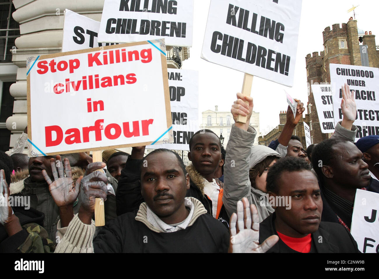 Global protest for darfur