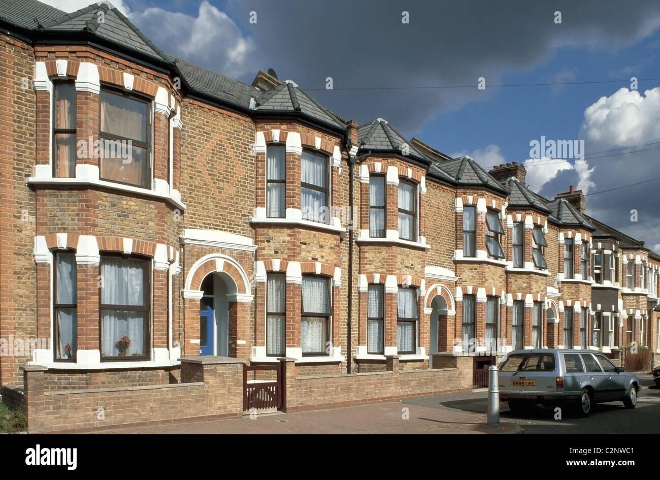 Terrace, Lambeth, London. - Stock Image