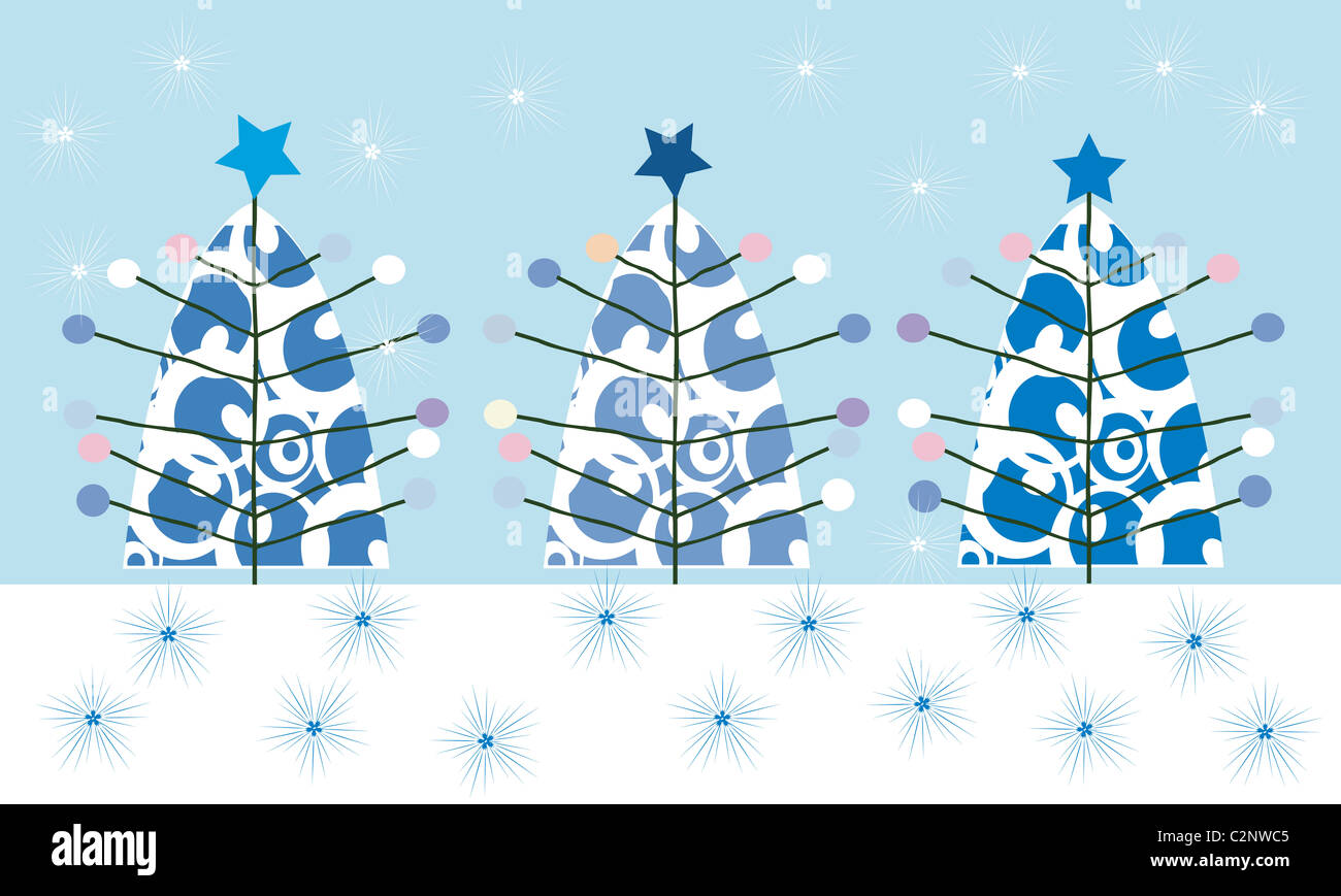 Christmas tree background - Stock Image